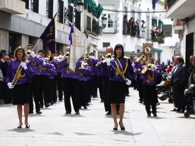Banda de cornetas y tambores de la hermandad de Jesus Nazareno