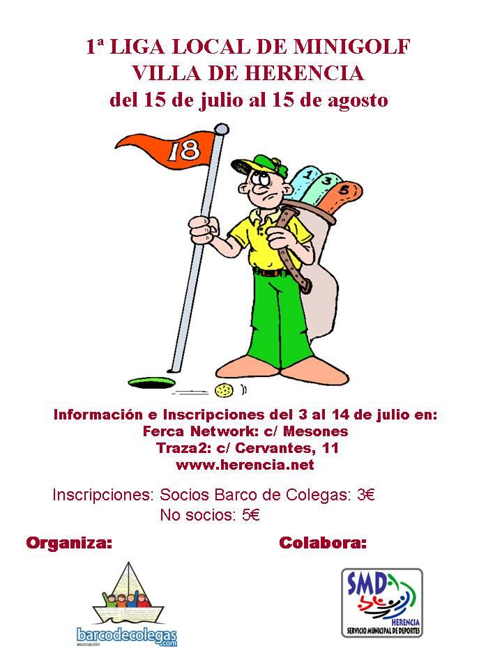cartel 1ª liga minigolf