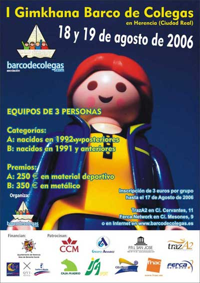Carte gymkahana Barco de Colegas