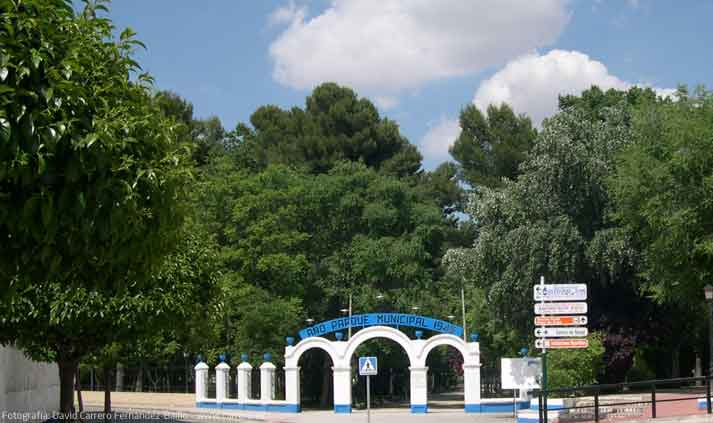 parque municipal herencia - El Parque Municipal en obras de renovación y acondicionamiento