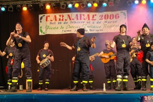 Inauguración Carnaval de Herencia 2006. Los Pelendengues