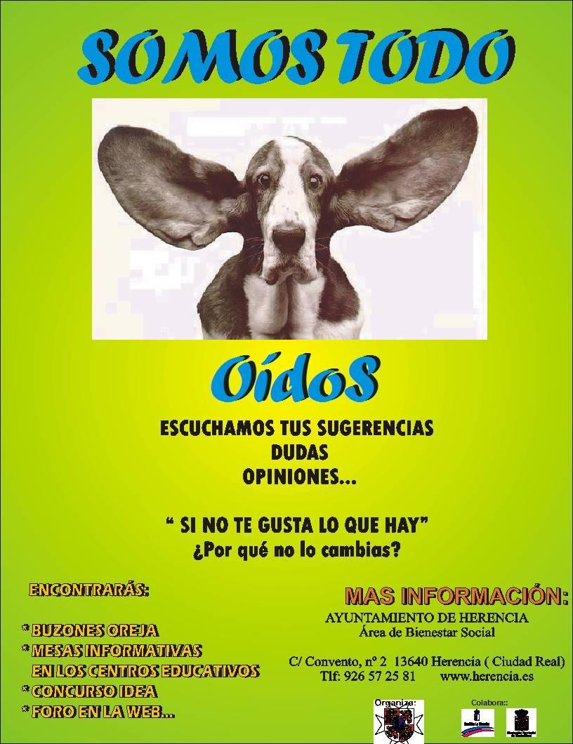 """cartel campana1 - Campaña """"Somos Todo Oídos"""". Concurso Idea"""