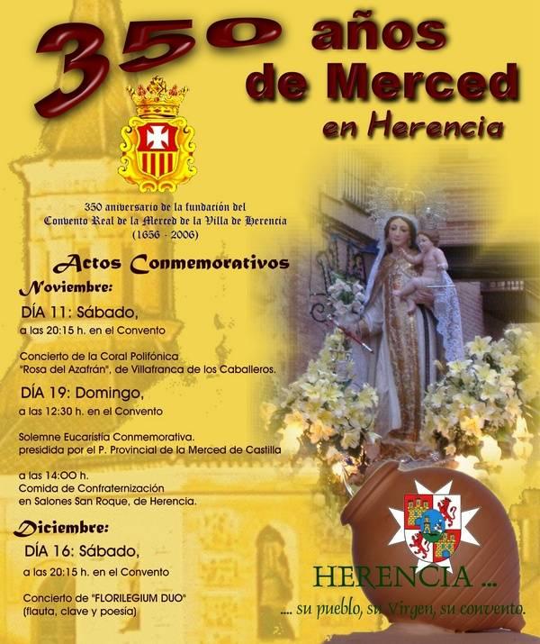 Cartel 350 años de Merced
