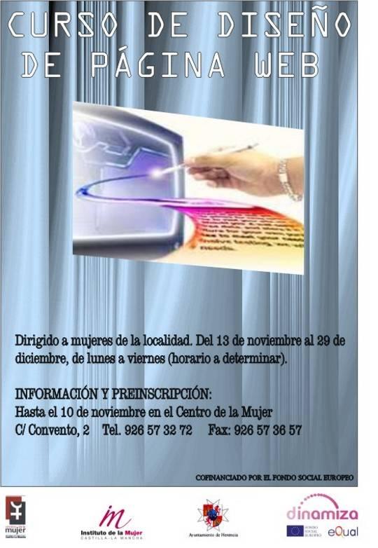 Cartel Curso diseño páginas web