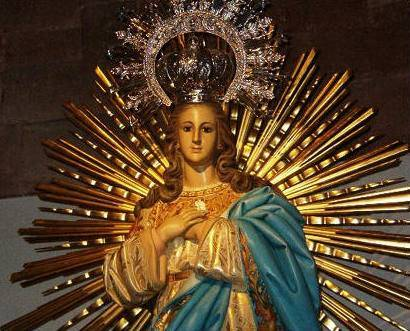escultura inmaculada concepcion herencia - Novena en Honor de la Inmaculada Concepción de María