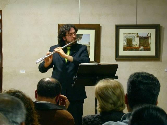 Luis Miguel Abengoza en el acto de clausura de la exposición