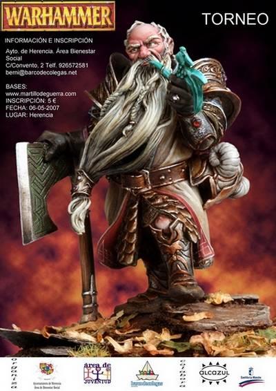 Cartel III Campeonato de Warhammer Ayto Herencia - Barco de Colegas
