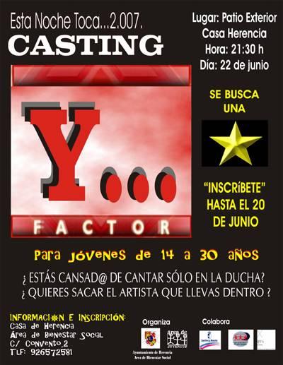 """cartel factor y jpg - Esta Noche Toca 2.007. Factor """"Y..."""""""