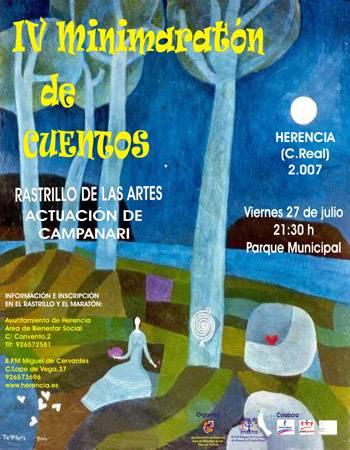 Cartel del IV Minimaraton de Cuentos y Rastrillo de las Artes