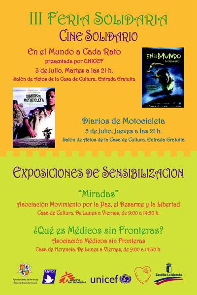 III Feria Solidaria. Exposiciones y cine