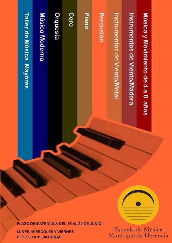 Cartel matrícula Escuela de Música 2007-2008