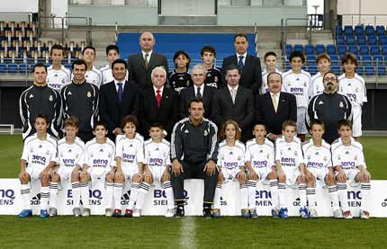 "Real Madrid Alevín ""A"" 2007. Foto extraída de www.realmadrid.com"