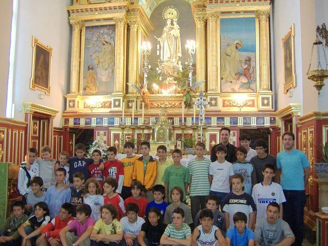 Categorias Inferiores del Real Madrid en el Convento de la Merced de Herencia