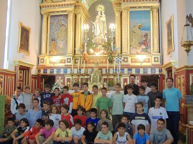 Categorias Inferiores del Real Madrid en el Convento de la Merced de Herencia
