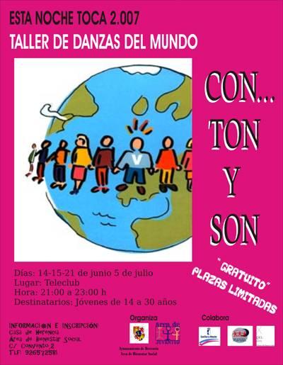 Cartel Taller Danzas del Mundo. Esta Noche Toca… 2007. Herencia