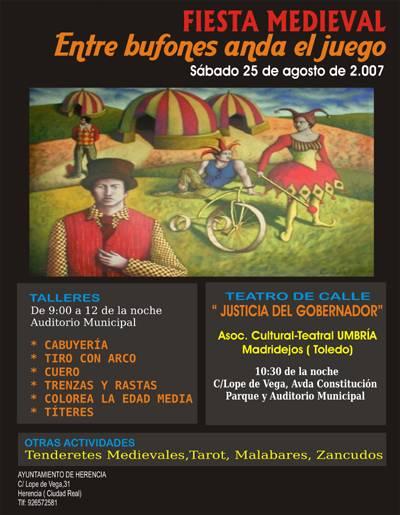 Cartel Fiesta Medieval Herencia