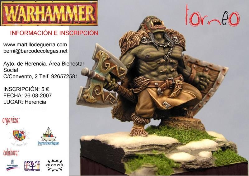 iv torneo cartel internet2 - IV Torneo de Warhammer Barco de Colegas - Ayto de Herencia