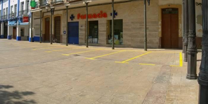 plazas de aparcamiento en peatonal - Estacionamiento en la Plaza de España