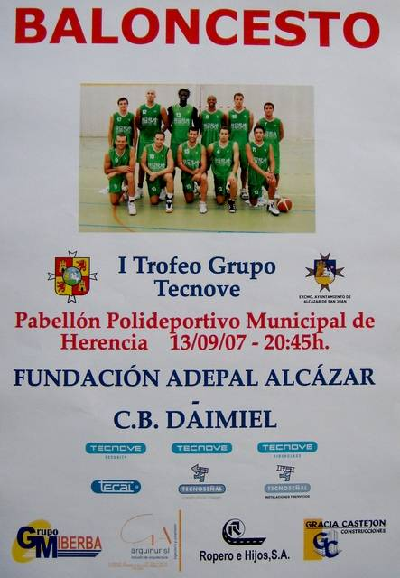 Cartel I Torneo Grupo Tecnove