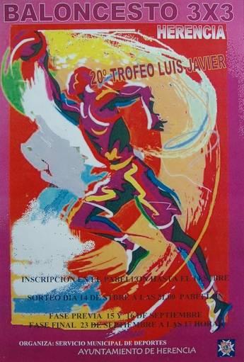 "Cartel del XX Torneo ""Luis javier"" de baloncesto 3×3"