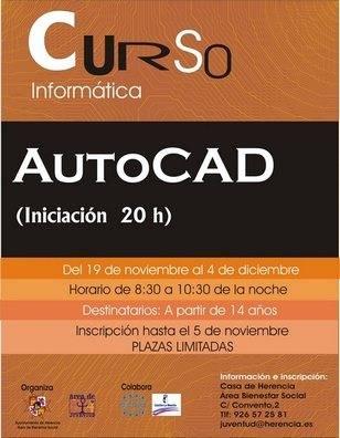 cartel curso autocad 2007 - Curso básico de Autocad
