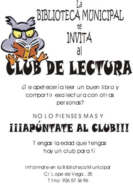 """club lectura 01 - """"El que lee mucho y anda mucho, ve mucho y sabe mucho"""". Los Club de Lectura de Herenica"""