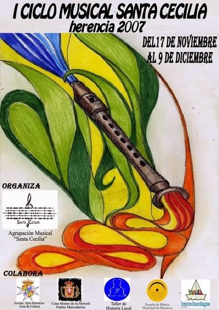 Cartel del I Ciclo Musical Santa Cecilia Herencia 2007