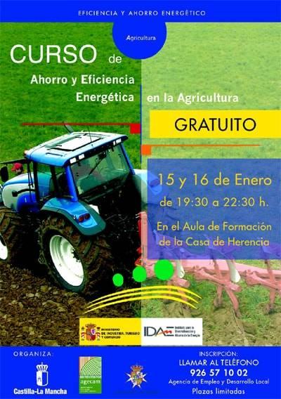 """Curso sobre """"Ahorro y Eficacia Energética en la Agricultura"""""""
