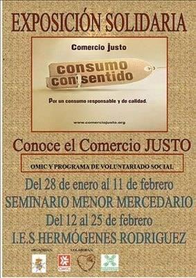 cartel expo comercio justo - El Comercio Justo recorre los centro educativos de la localidad