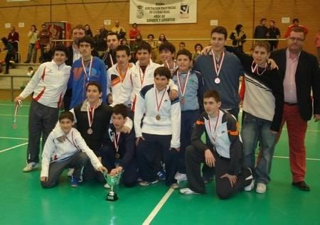 balonmano herencia foto equipo - Terceros en el Campeonato provincial de Balonmano