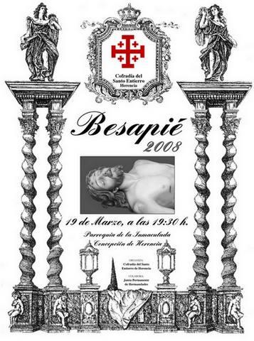 besapies cristo santo entierro - La Cofradía del Santo Entierro llevará a cabo su tradicional besapié
