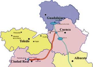 Tubería Manchega, mapa del agua