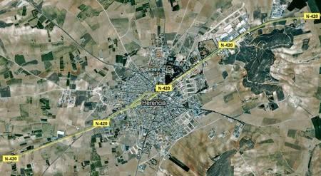 n420 a su paso por herencia ciudad real - 36 millones para tres variantes en La Mancha