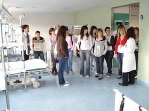 Visita de Alumnos del IES de Herencia al Hospital de Alcázar 3