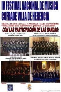 cartel iv encuentro bandas de cornetas y tambores1 199x300 - IV Festival de Música Cofrade Villa de Herencia
