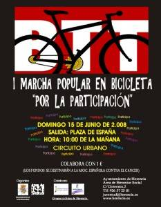 """i marcha popular en bicicleta1 233x300 - I Marcha Popular en bicicleta """"Por la participación"""""""