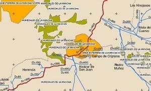 mapa tuberia manchega 300x182 - La CHG saca a información pública los ramales de la Tubería Manchega