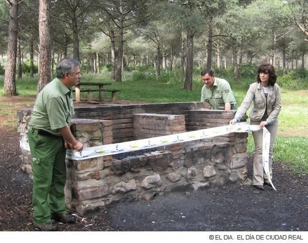 precinto de barbacoa imagen extraida del diadeciudadreal - Se amplia temporalmente la prohibición de quema de restos vegetales en el medio natural