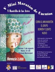 iv minimaraton de cuentos 232x300 - V Mini Maratón de Cuentos y Rastrillo de las Artes. Herencia 2008, un pueblo encuentado