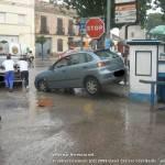 Lluvia en Herencia. Inundaciones en la báscula 5