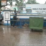 Lluvia en Herencia. Inundaciones en la báscula 8