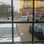 Lluvia en Herencia. Inundaciones en la báscula 3