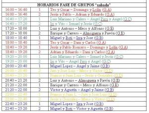 horarios sabado 300x228 - Horario y sorteo de grupos del Trofeo de Pádel