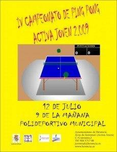 cartel campeonato ping pong