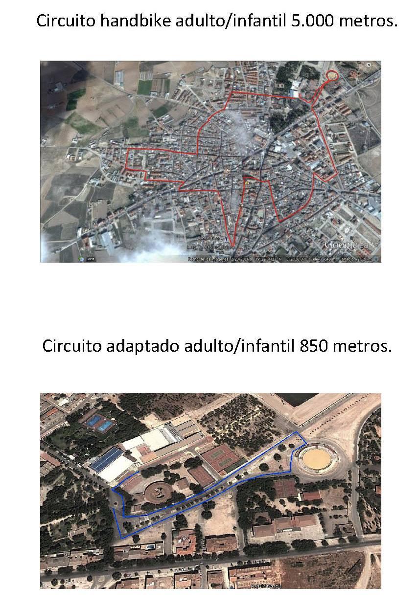 circuito de prueba adaptada carrera popular herencia - Ruta de XL Carrera Popular de Herencia