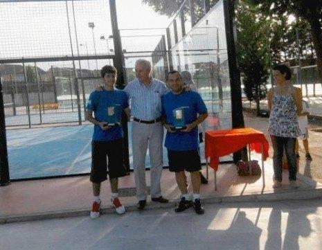 Agustín y Adrian campeones de la liga de padel Alcazar de San Juan