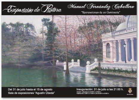 Cartel exposicion Manuel Fdez Caballero