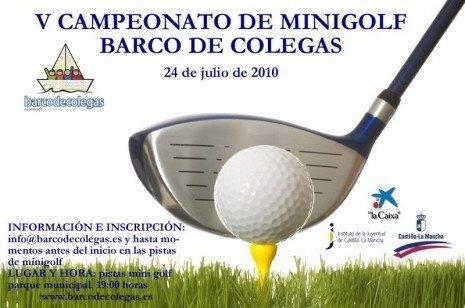 Este sábado se celebrará el V Campeonato de Minigolf Barco de Colegas 3