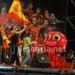 juand arcoiris con la roja 1 150x150 - Herencia estuvo con 'La Roja' en la celebración oficial