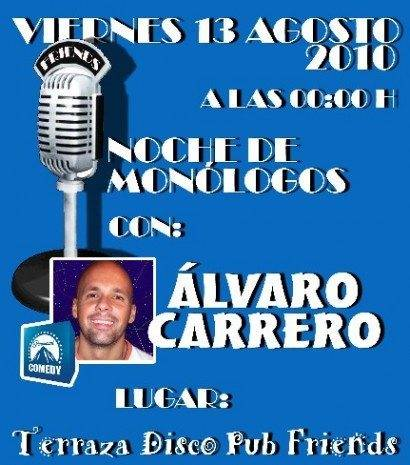 Monologuista Alvaro Carrero 410x465 - Noche de Monólogos: Álvaro Carrero